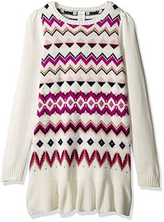 Gymboree Little Girls Fairisle Print Sweater Dress Tiramisu Heather 4 * Learn more by visiting the image link.Note:It is affiliate link to Amazon.