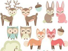 Resultado de imagen de deer owl squirrel printables