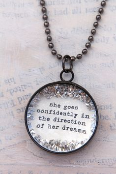 she goes confidently in dreams charm - $28.00 : Beth Quinn Designs  , Romantic Inspirational Jewelry