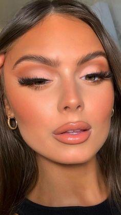 Neutral Makeup, Nude Makeup, Glam Makeup, Eyeshadow Makeup, Beauty Makeup, Glamorous Makeup, Eye Makeup Art, Soft Makeup, Smokey Eye Makeup