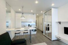 Комната-студия с кухней (41 фото), дизайн своими руками: инструкция, фото и видео-уроки, цена