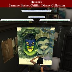 Mod The Sims - New Art Collection for easel with Becket-Griffith paintings