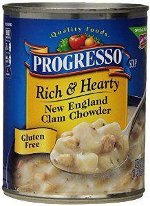 Progresso Rich & Hearty Soup, New England Clam Chowder, 18.5 Oz - http://www.handygrocery.com/grocery-gourmet-food/progresso-rich-hearty-soup-new-england-clam-chowder-185-oz-com/