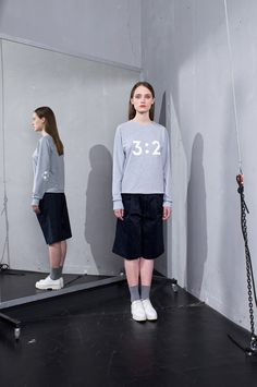 Geometric raglan sleeve sweatshirt with pattern on the front and football print on the elbow. Designed straight shape and classic round neckline with unique hem. Materials: COTTON, LYCRA Gentle machine wash with like colors, Warm iron if Angkor, Grey Sweatshirt, Ss, Normcore, Sweatshirts, Cotton, Collection, Fashion, Moda