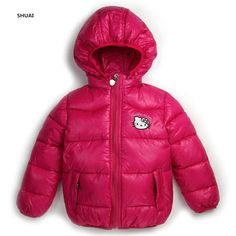 >> Click to Buy << New Hello Kitty Girls Jacket Kids Winter Keeping Warm Casual Hooded Coat Children Cartoon Cotton-padded jackets Clothes #Affiliate