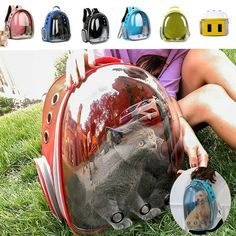 Portable Space Capsule Hole Pet Cat Puppy Carrier Waterproof Backpack Bag Travel  - Ideas of Cat Backpack #CatBackpack Travel Backpack, Backpack Bags, Travel Bags, Cat Backpack Carrier, Puppy Carrier, Dog Spaces, Pet Bag, Waterproof Backpack, Travel Items