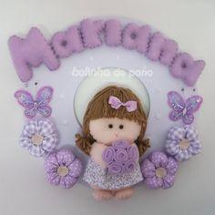 Enfeite Porta Maternidade Menina Flor 8 - Bolinha de Pano
