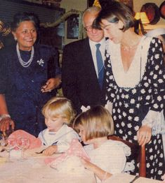 The Casiraghi grandparents with Princess Caroline, Charlotte and her brother  1991