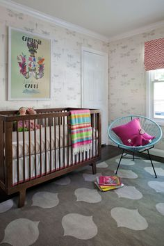 nursery with dragonfly wallpaper | Jute Interior Design, Mill Valley CA #dragonfly #wallpaper #nursery