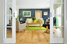 "MyWoodWall ""Blue Ocean"" Peel & Stick wood wall panels Timber Wall Panels, Timber Walls, Timber Panelling, Wood Panel Walls, Stick On Wood Wall, Peel And Stick Wood, Diy Wood Wall, Plasterboard Wall, Blue Wood"