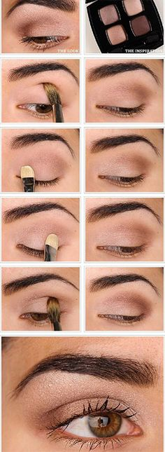 Everyday makeup perfect for brown eyes