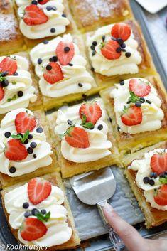 Simpele gele room dessert | Kookmutsjes
