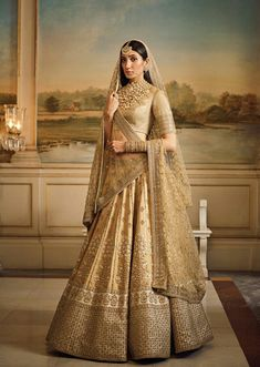 #Sabyasachi_Bridal_Couture The Spring Summer Collection Stunning Mughal Lehenga with Resham and Zardosi Detail
