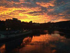 Levé de soleil sur la Saône