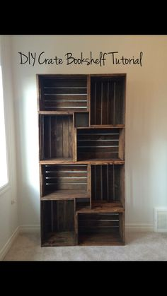 Crates to create shelving, good idea.