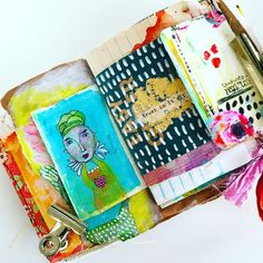 My favorite thing right now is this combination. _____________________ Having my little Art Marks… Doodle Art Journals, Art Journal Pages, Art Journaling, Junk Journal, Moleskine, Art Journal Inspiration, Journal Ideas, Art Journal Techniques, Altered Art
