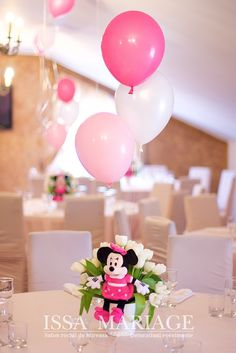 Christening, Minnie Mouse, Table Decorations, Furniture, Home Decor, Decoration Home, Room Decor, Home Furnishings, Home Interior Design