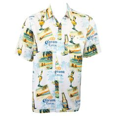 Shop for Corona Extra Ivory Coast Aloha Rayon Shirt. Get free delivery On EVERYTHING* Overstock - Your Online Men's Clothing Store! Casual Date, Men Casual, Corona Shirt, Aloha Shirt, T Shirt, Beach Gear, Shirt Store, Beach Shirts, Ivory Coast