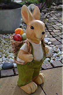 Schneehase Figur für Haus und Garten Dekoration Hase weiss Ostern
