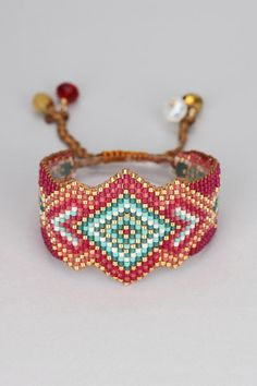 Bracelet perles rouges Rocky Be Rouge Mishky sur MonShowroom.com