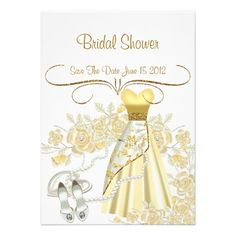 Elegant Save The Date Bridal Shower Invitation