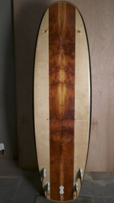 "6'6"" custom figured red-cedar bot tilleysurfboards"
