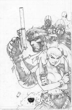Joe Mad Joe Madureira sketch Metal Gear Solid pencils by Joe Madureira Comic Book Artists, Comic Artist, Comic Books Art, Joe Madureira, Comic Book Drawing, Black And White Comics, Comic Layout, Comic Art Community, Drawing Sketches