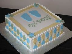 Baby Shower Square Cakes | oh boy baby shower cake inspiration taken from sugar shack s square ...