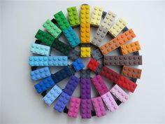 Lego color wheel!This would be so fun to have in my classroom!! even if I did colored popsicle sticks or pipe cleaners, etc