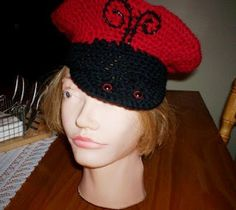 Cats-Rockin-Crochet Fibre Artist.: Crochet Ladybug, Beret and Scarf Set