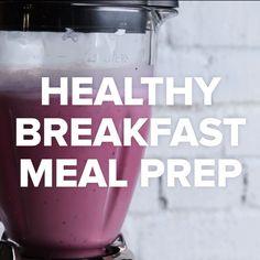 Healthy Breakfast Meal Prep #smoothie #breakfast #fruit #healthy