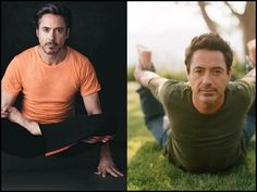 Robert Downey Jr uses Yoga to deal with the 'really cool survival game' that is life :)