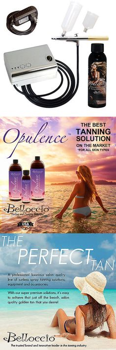 Other Sun Protection and Tanning: Belloccio Sunless Tanning Airbrush System Compressor Opulence Dha Tan Solution BUY IT NOW ONLY: $74.99