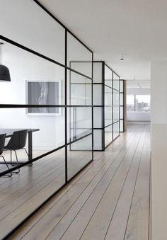 verrière intérieure, style contemporain et sobre
