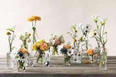love these wildflower centerpieces