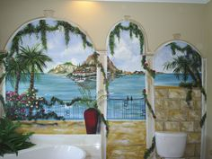 A bathroom mural I did for a client