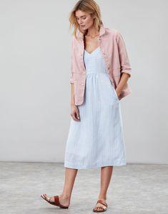 Imogen PINK Denim Jacket | Joules UK Pink Denim Jacket, Style Challenge, Outfit Sets, Spring Summer Fashion, Pink Dress, Fashion Beauty, Joules Uk, Shirt Dress, Soft Pastels