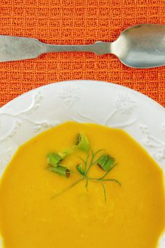 Fast and Easy Butternut Squash Soup || Cook a chopped onion in a few tablespoons of butter for about 10 minutes. Meanwhile, peel, seed and chop a butternut squash into 1-inch chunks. When the onion is soft, add the squash and 6 cups of chicken or vegetable stock. Simmer until the squash is tender, 20 minutes or so. Puree with an immersion blender and season with nutmeg, salt and pepper.