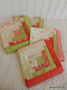 Scrappy Log Cabin Quilt Along Update | A Quilting Life - a quilt blog