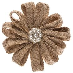 Jute Flower Lamp Embellishment with Pearls