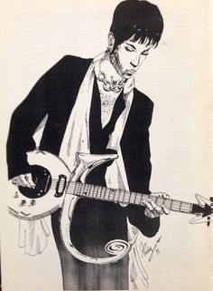 """PRINCE's drawing 4 my book: """"PRINCE. A volte nevica in aprile"""" by Rudy Giorgio Panizzi."""