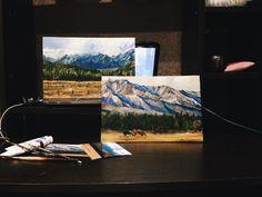 #картина, #масло, #горы, #пейзаж, Мунку Сардык, #байкал