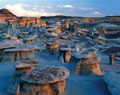 south of Farmington, NM. Its strange rock formations are called hoodoos