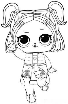 You can find here 12 free printable coloring pages of LOL Surprise Sparkle series dolls. Best coloring pages from different LOL Surprise series. Tangled Coloring Pages, Barbie Coloring Pages, Unicorn Coloring Pages, Cartoon Coloring Pages, Free Coloring, Coloring Worksheets, Kids Printable Coloring Pages, Coloring Pages For Boys, Coloring Book Pages