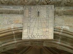 Sundial on the cathedral at Santiago de Compostela south facing.