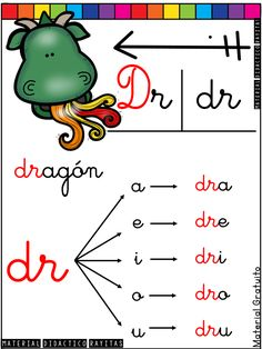 Bilingual Education, School Colors, I School, Homeschool, Dragon, Psp, Handwriting, Spiderman, Sight Word Activities