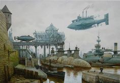 Vadim Voitekhovitch's steampunk oil paintings bring this fantastic alternate universe of the past to life with a realism that almost makes it tangible.