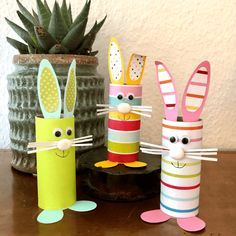 Toilet Paper Roll Crafts, Paper Crafts For Kids, Preschool Crafts, Diy For Kids, Crafts To Make, Kids Activities At Home, Easter Activities, Easy Easter Crafts, Bunny Crafts