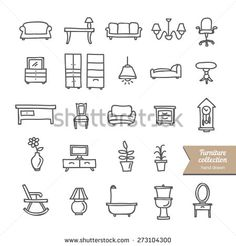 cute furniture icons - Google Search