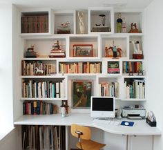 Home office organization shelves built ins 39 Best ideas Home Office Design, Home Office Decor, Interior Design Living Room, House Design, Office Desk, Built In Desk, Built Ins, Desk Shelves, Shelving
